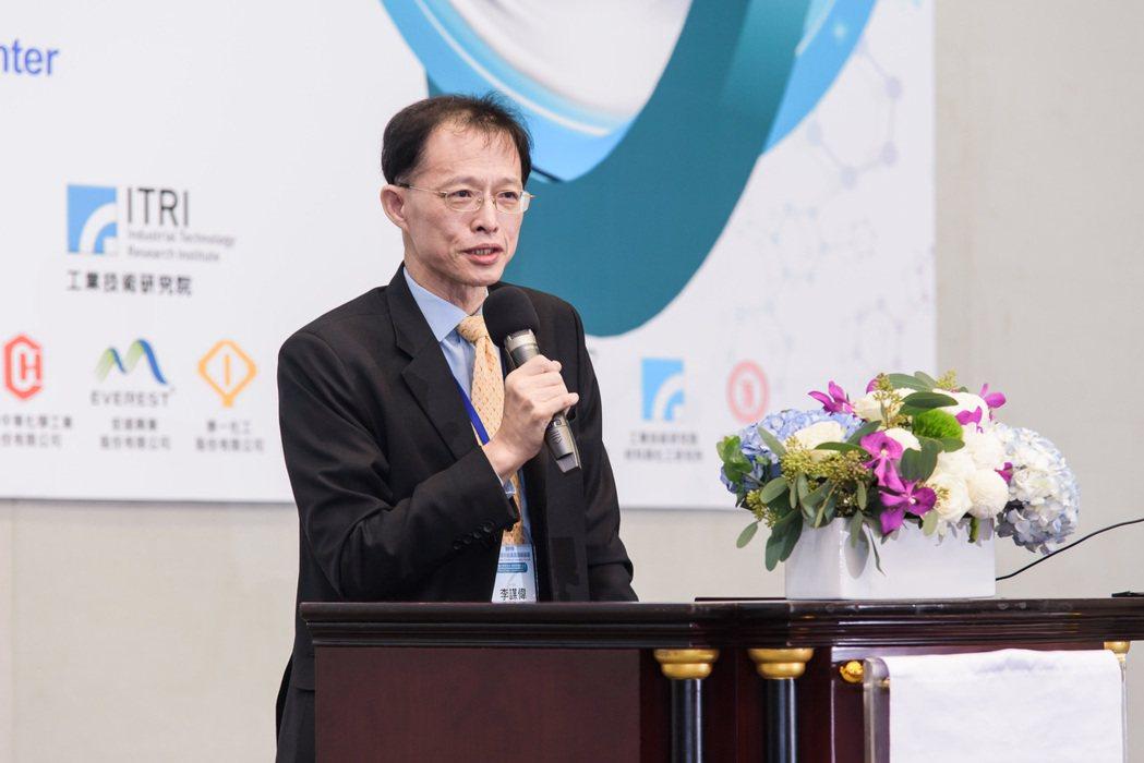 台灣化學產業協會理事長李謀偉去年論壇開幕致詞。 台灣化學產業協會/提供