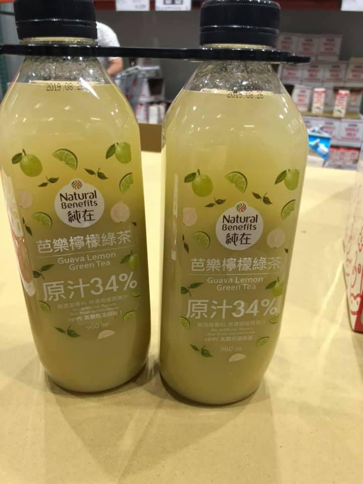 好市多「芭樂檸檬綠茶」近日造成大搶購。圖/臉書Costco好市多 商品經驗老實說