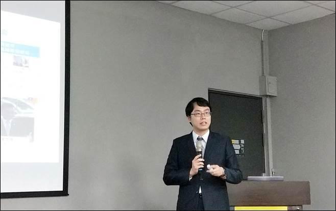 圖六、工研院產業科技國際策略發展所(ISTI)智慧車輛與系統研究部經理謝騄璘分享...