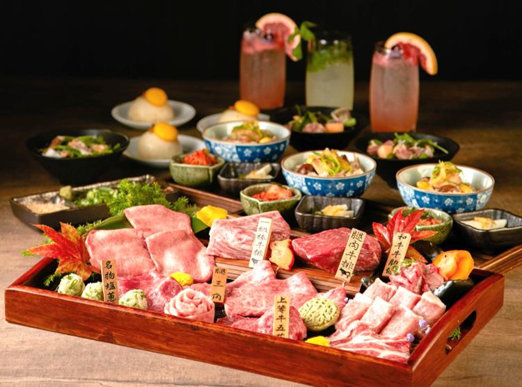 老乾杯推出中秋和牛宴,每人2,180元。圖/乾杯提供