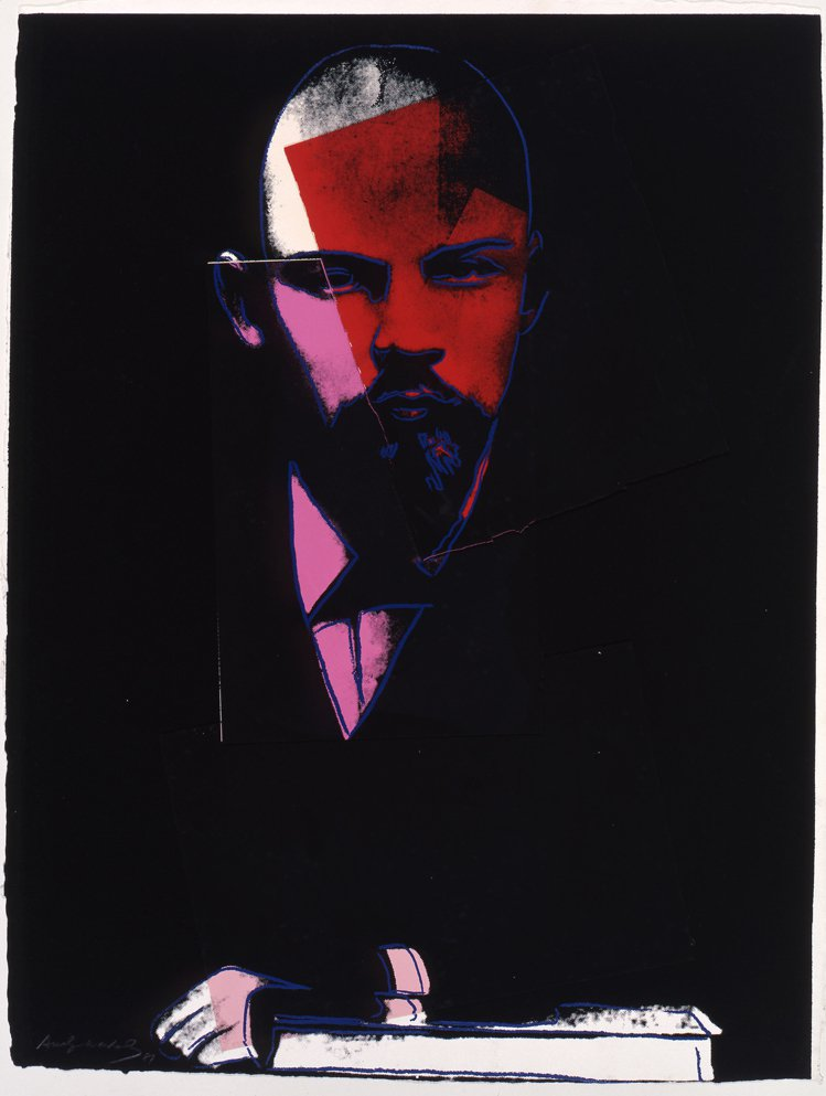 安迪沃荷1986/7年作 《列寧》 ,拼貼、絲網版畫、手工紙。圖/富藝斯提供
