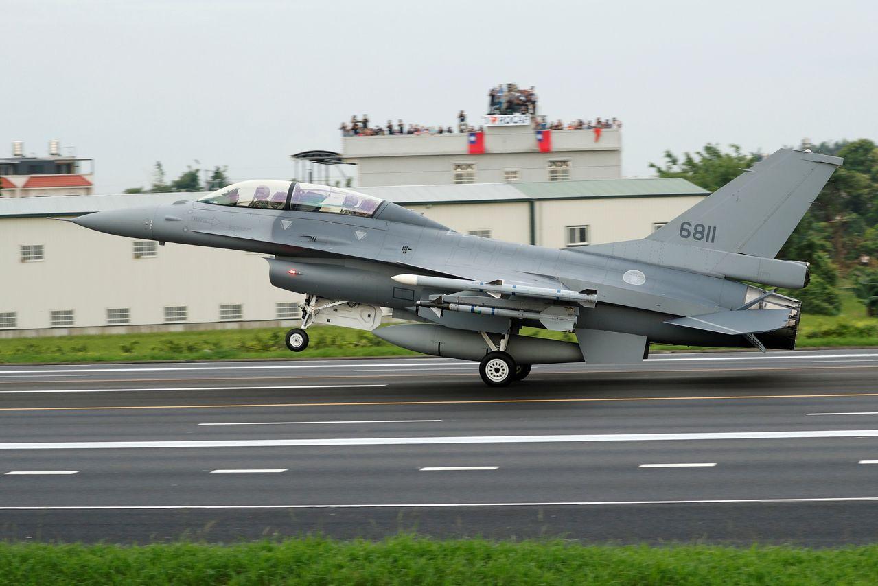 中華民國空軍F-16V戰機。路透