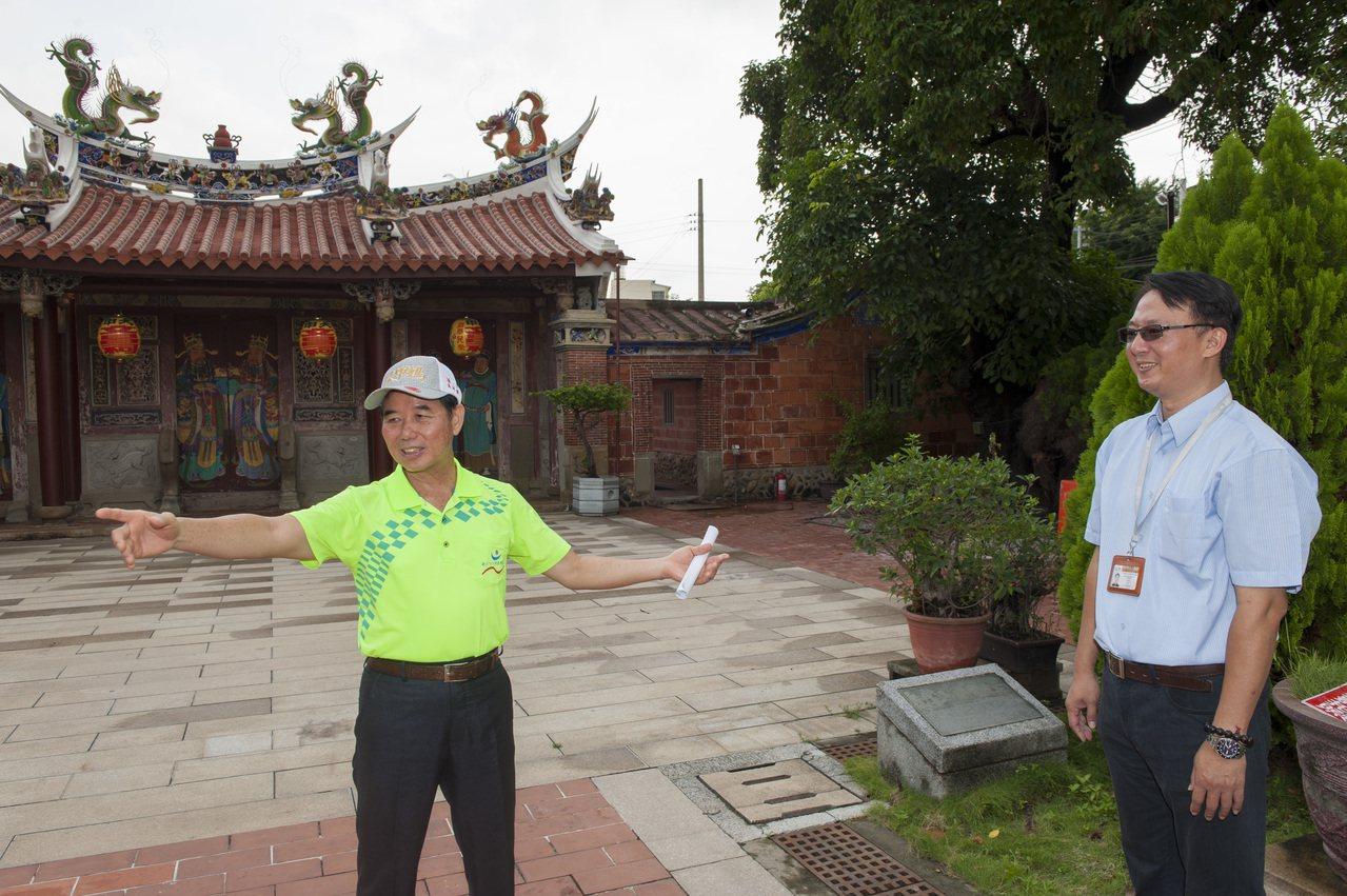 台中市議員吳敏濟今日前往會勘大甲文昌祠。圖/吳敏濟服務處提供