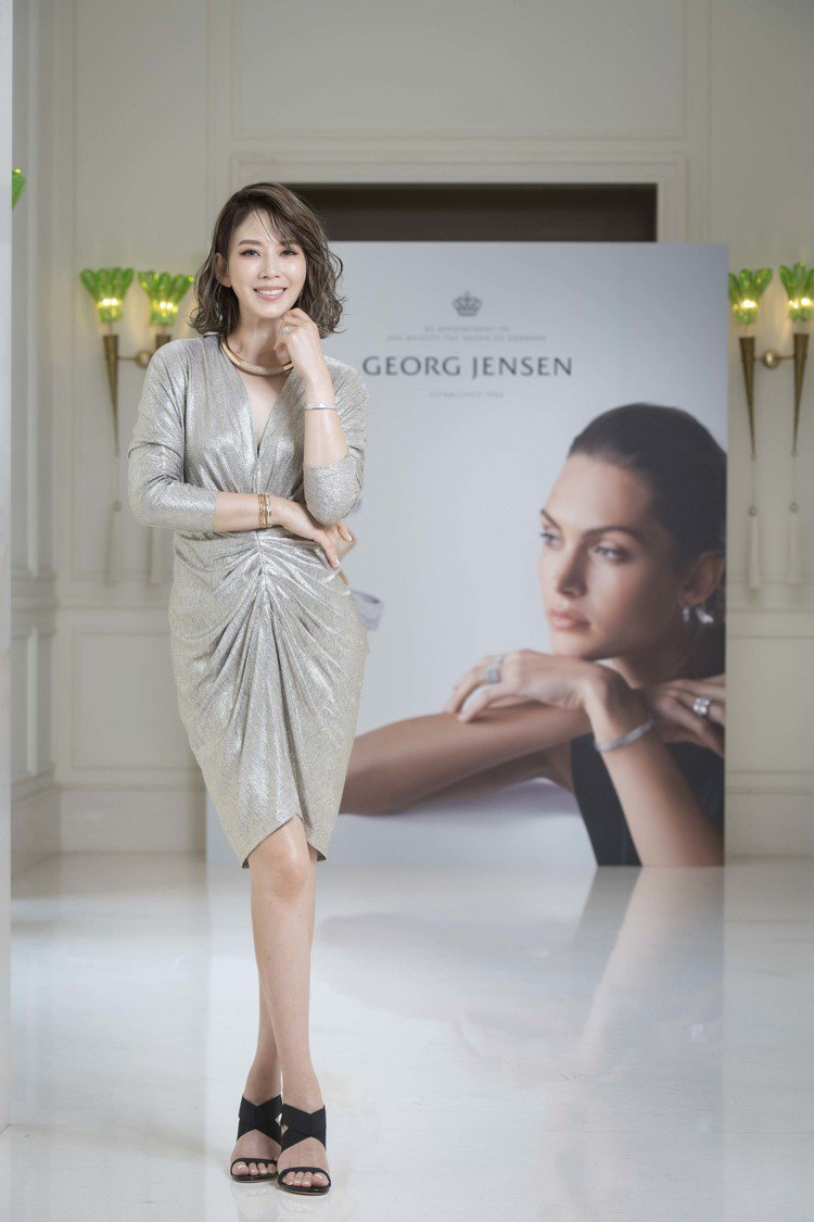 時尚女星Melody演繹GEORG JENSEN FUSION珠寶新作。圖/喬治...