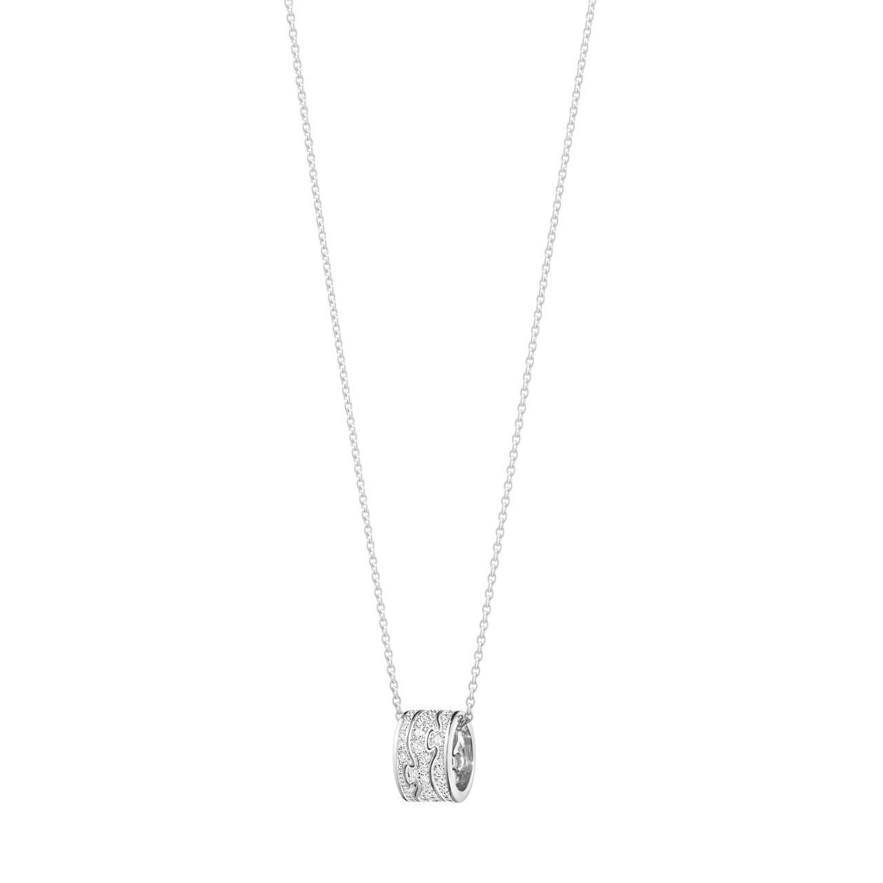 GEORG JENSEN NEW FUSION系列18K白金鋪鑲鑽石鍊墜,87,...