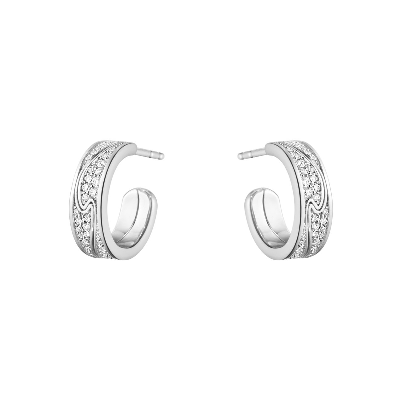 GEORG JENSEN NEW FUSION系列18K白金鋪鑲鑽石耳環,87,...
