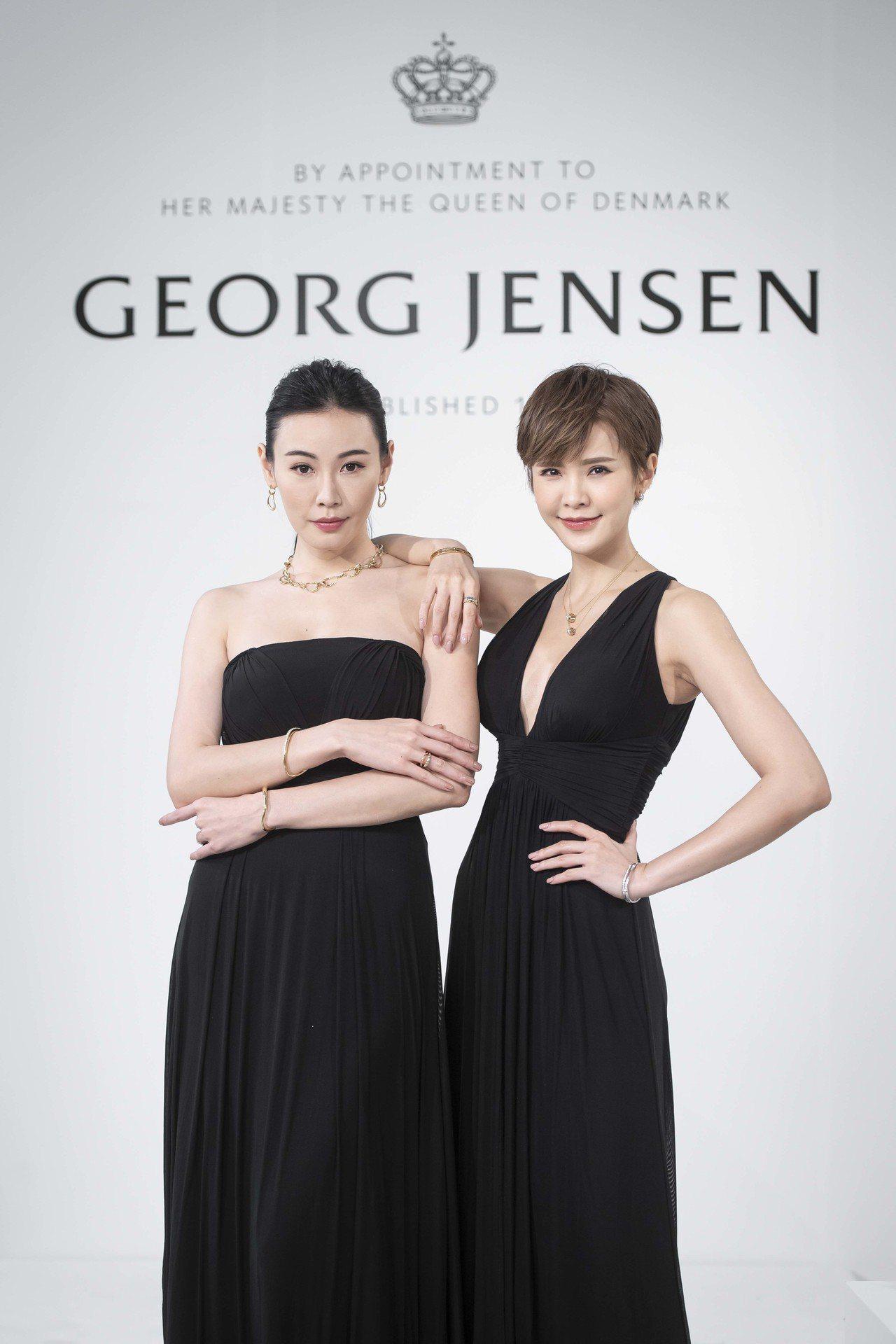 模特兒展演GEORG JENSEN珠寶。圖/喬治傑生提供