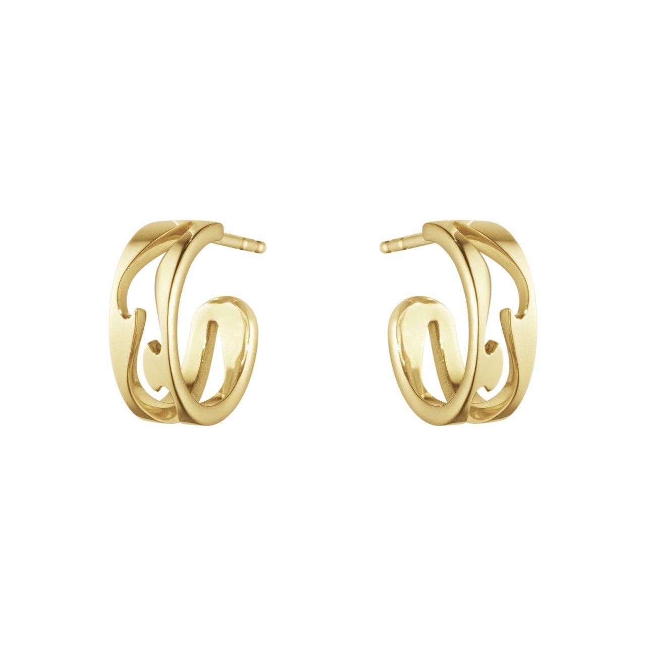 GEORG JENSEN NEW FUSION系列18K黃金鏤空耳環,35,50...