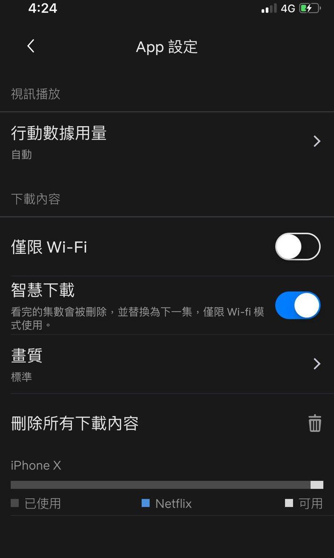 開啟Netflix智慧下載功能,解決通勤追劇時網路訊號不穩的問題。圖/Netfl...