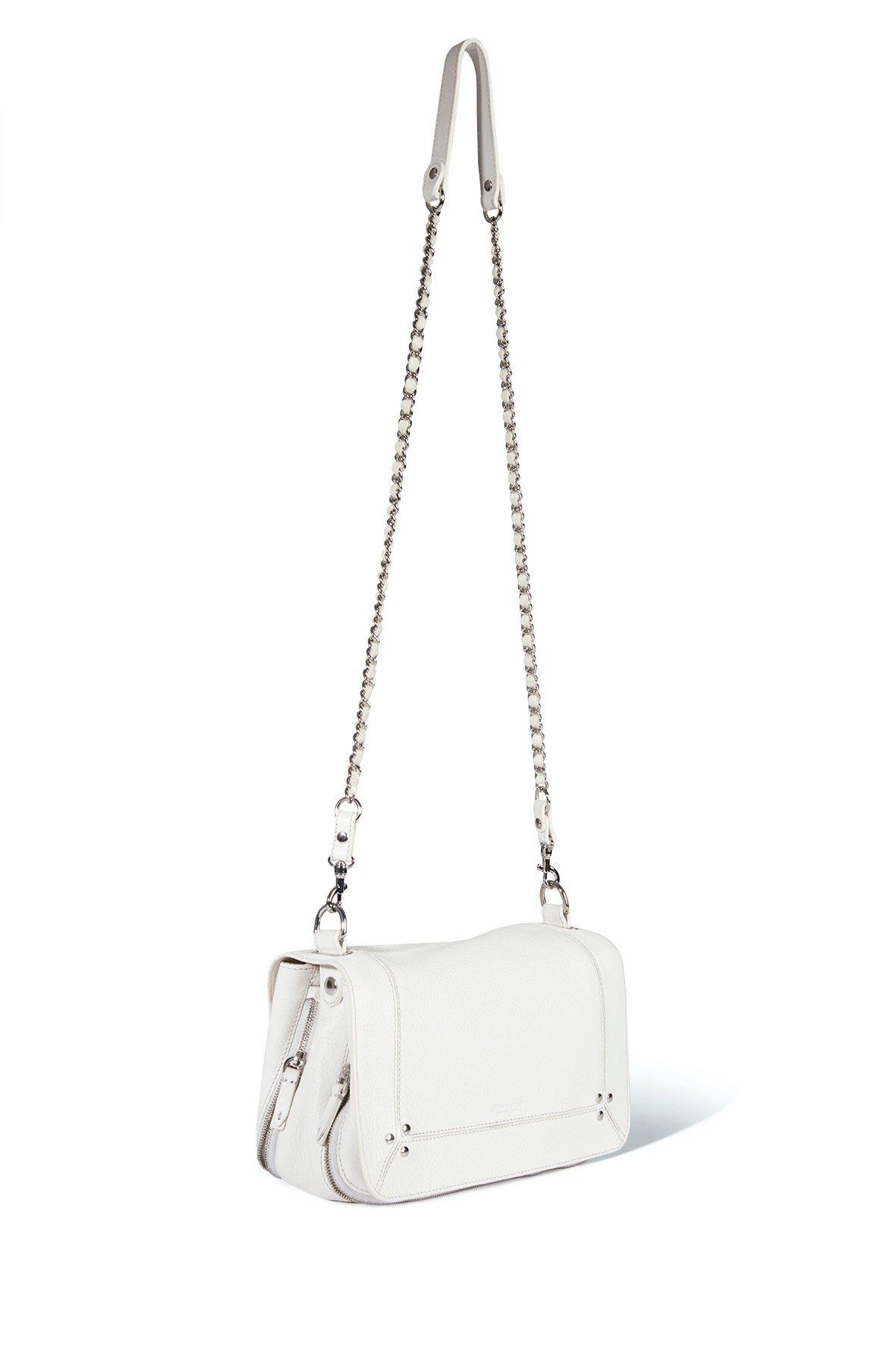 Bobi皚雪白山羊皮手袋,售價25,800元。圖/Jérôme Dreyfuss...