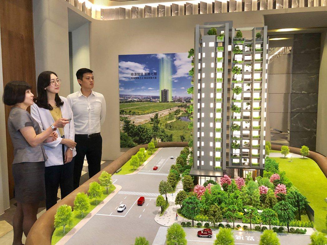 標榜台中市首棟宜居建築的新業「大塊森鄰」,正式在單元二推出,此案剛開賣,銷售率迅...