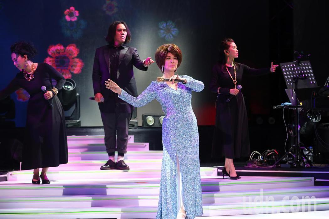 藝人蔡琴晚間在台北國際會議中心舉辦售票演唱會。記者許正宏/攝影