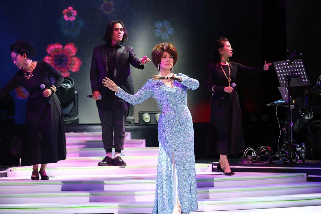 蔡琴今晚於TICC舉辦「好新琴」演唱會。記者許正宏/攝影