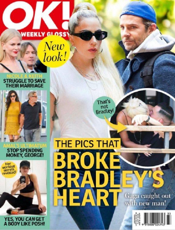 女神卡卡被八卦雜誌指移情別戀故意讓布萊德利庫柏嫉妒、不開心。圖/摘自OK!