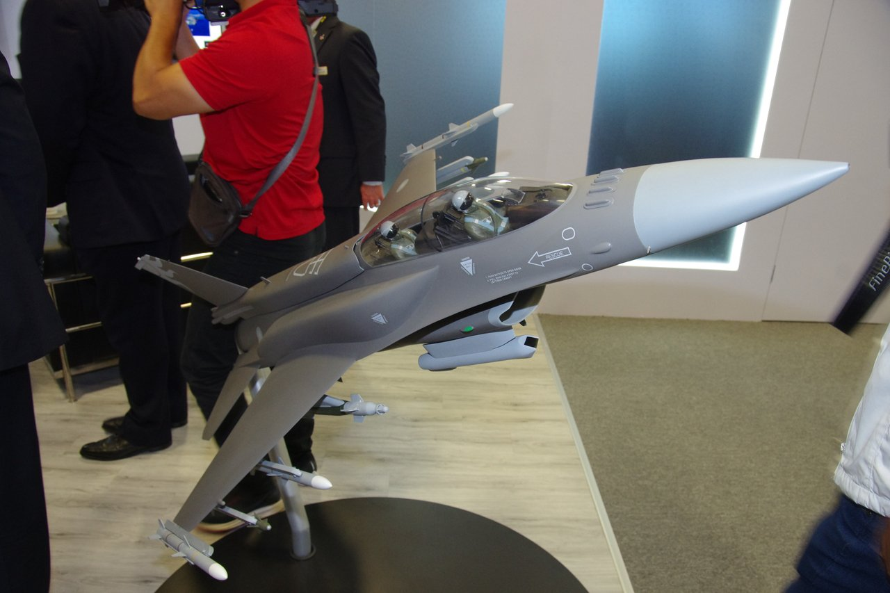 F-16V戰機模型。記者程嘉文/攝影