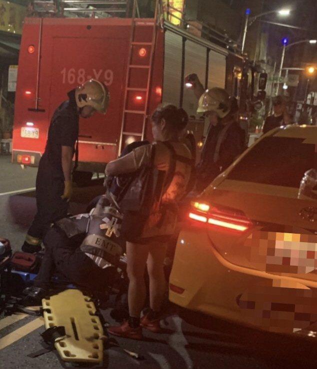 今年六月,高雄林姓女子慘遭一車衝撞後肇逃,再遭另一計程車衝撞捲入車底。圖/民眾提...