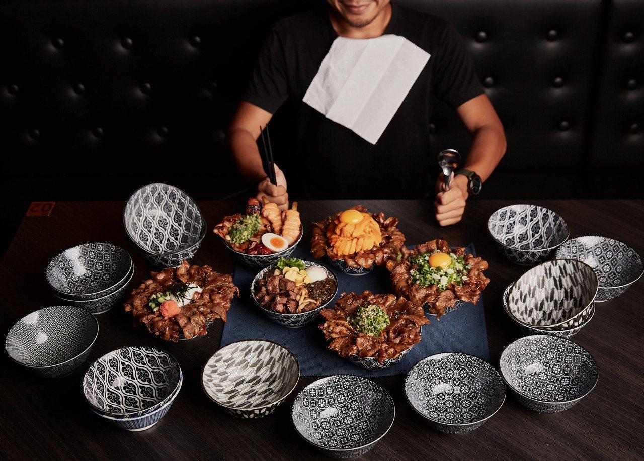 開丼推出大胃王爭霸戰,初賽需吃完合重達2公斤的丼飯。圖/開丼提供