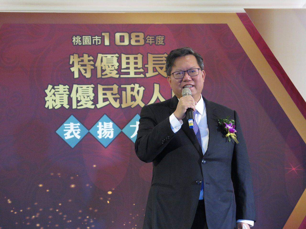 桃園市長鄭文燦現在身材圓滾滾,年初在市府量體重是84.5公斤。記者張裕珍/攝影