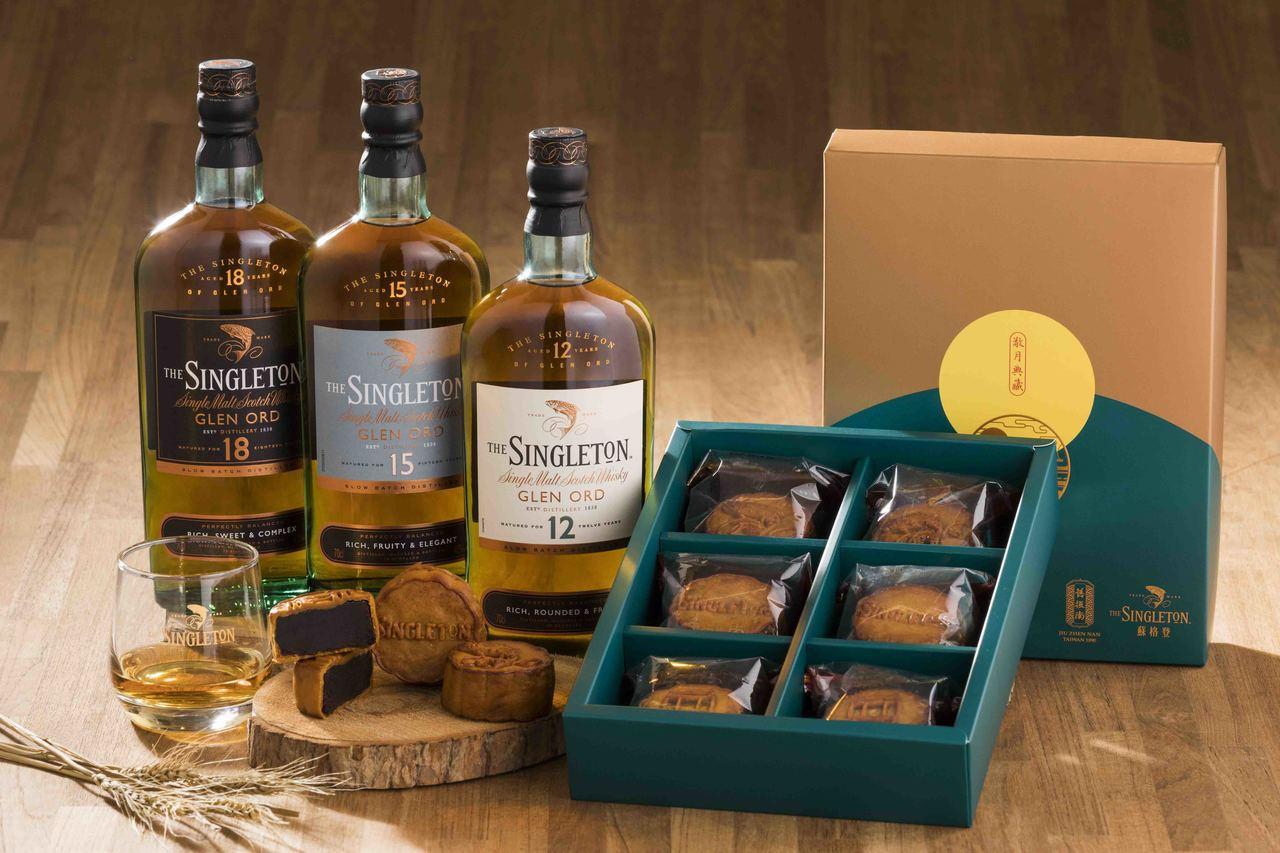蘇格登X舊振南的「敬月典藏威士忌月餅禮盒」,售價1, 200元。圖/帝亞吉歐提供...