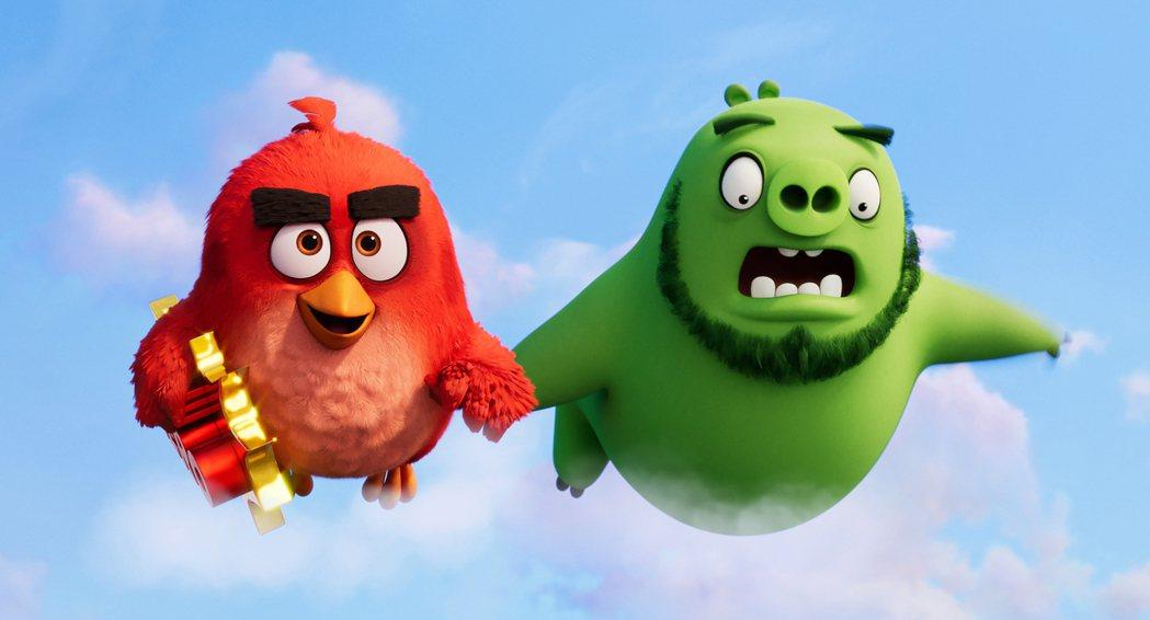 好萊塢影評紛紛給予《憤怒鳥玩電影2:冰的啦》高度肯定。圖╱索尼提供