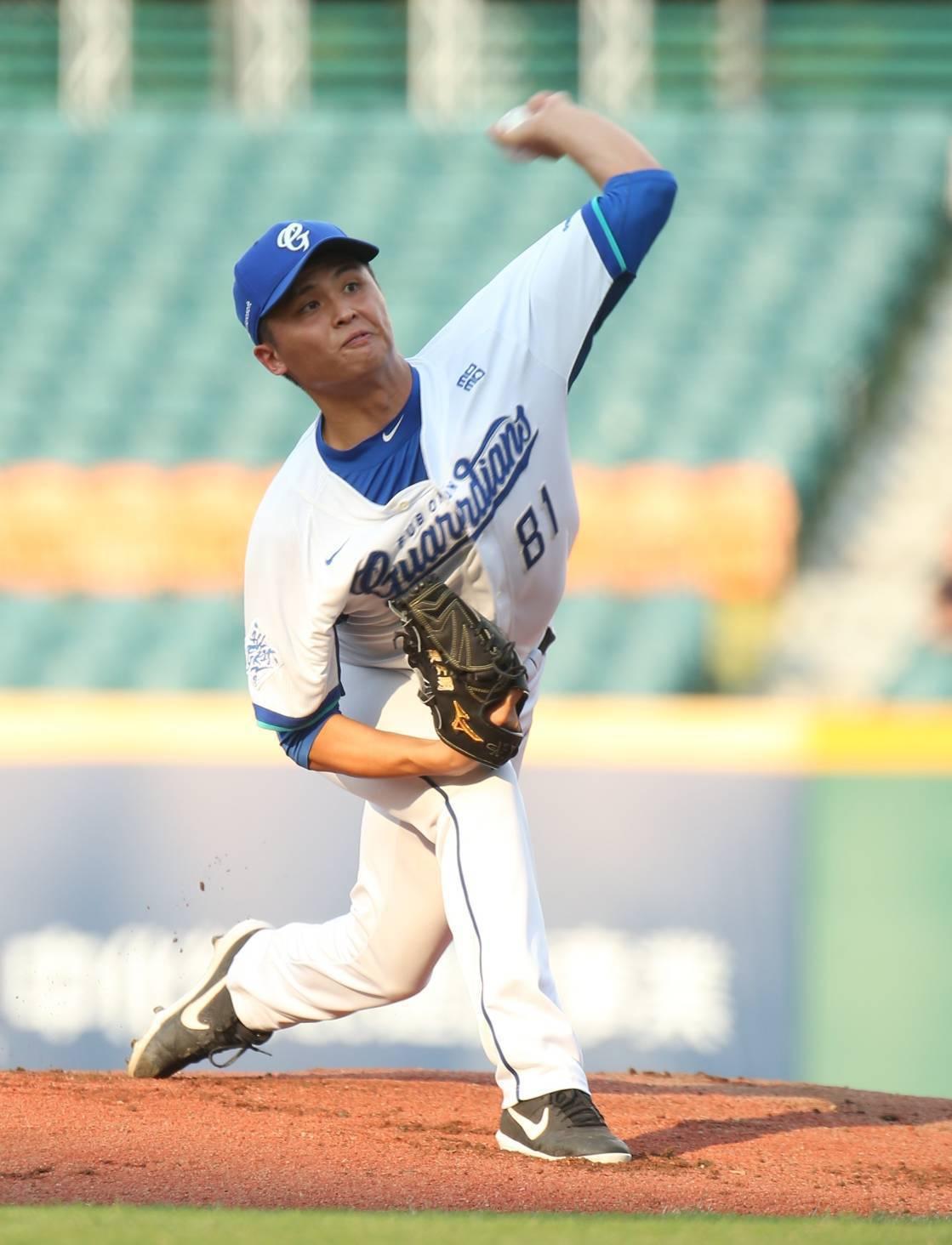 悍將隊先發投手陳仕朋拿到本季第8勝。記者林澔一/攝影