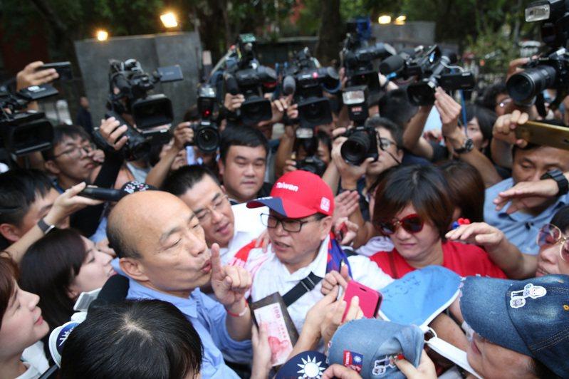 韓國瑜國政顧問團成軍,他誓言以「台灣安全、人民有錢」為競選主軸。記者曾吉松/攝影