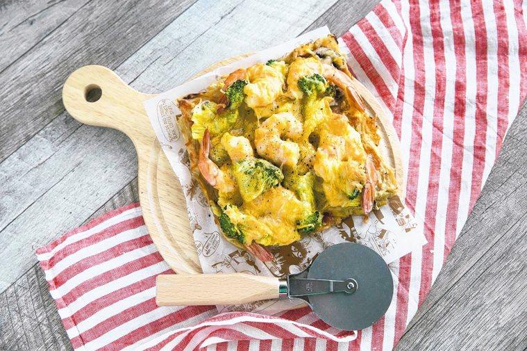 鳳梨鮮蝦豆皮披薩 圖片/如何提供
