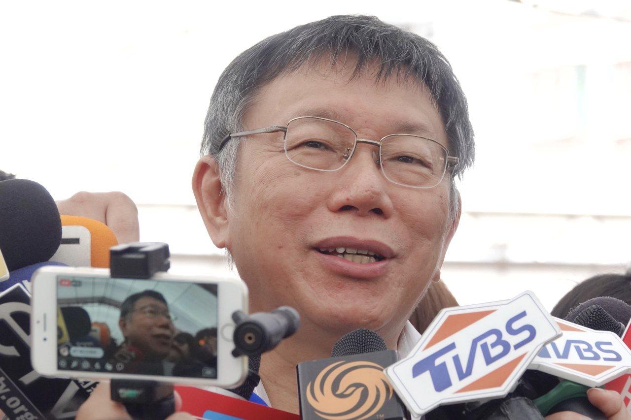 台北市長柯文哲。聯合報系資料照片/記者林伯東攝影
