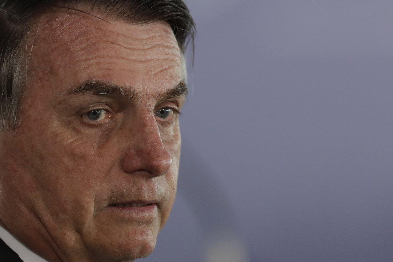 巴西總統博爾索納羅(Jair Bolsonaro)。 美聯社