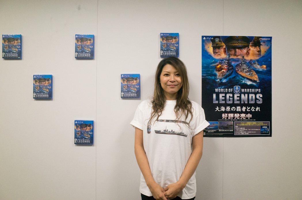《戰艦世界:傳奇》執行製作人Yoko Sawai,背後PS4實體片還特別排成船艦...