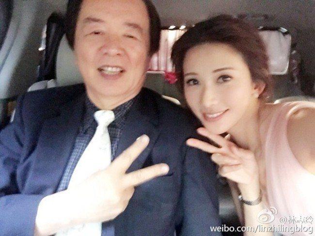 林志玲與爸爸林繁男。圖/摘自微博