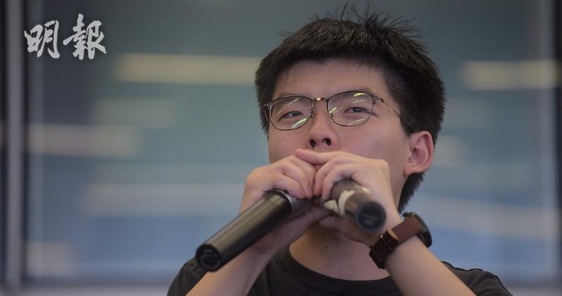 黃之鋒認為,六四或在港重演,但他不主張港獨。取自香港明報