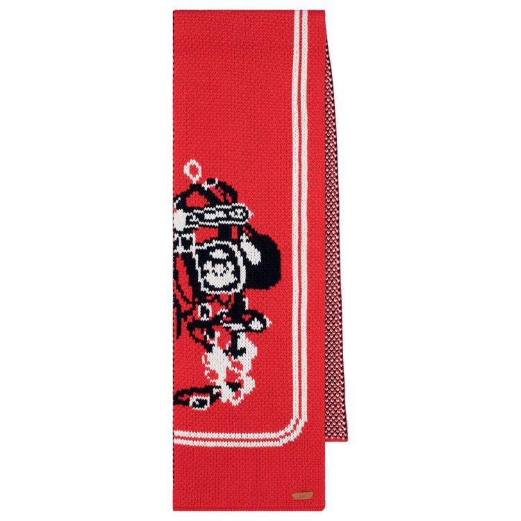 Brides de Gala圖紋喀什米爾羊絨針織圍巾,38,200元。圖/愛馬仕...