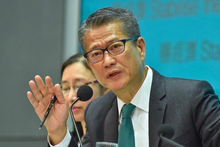 香港財政司司長陳茂波表示,推出的經濟措施,是針對現時的經濟環境及預計的經濟困難,...