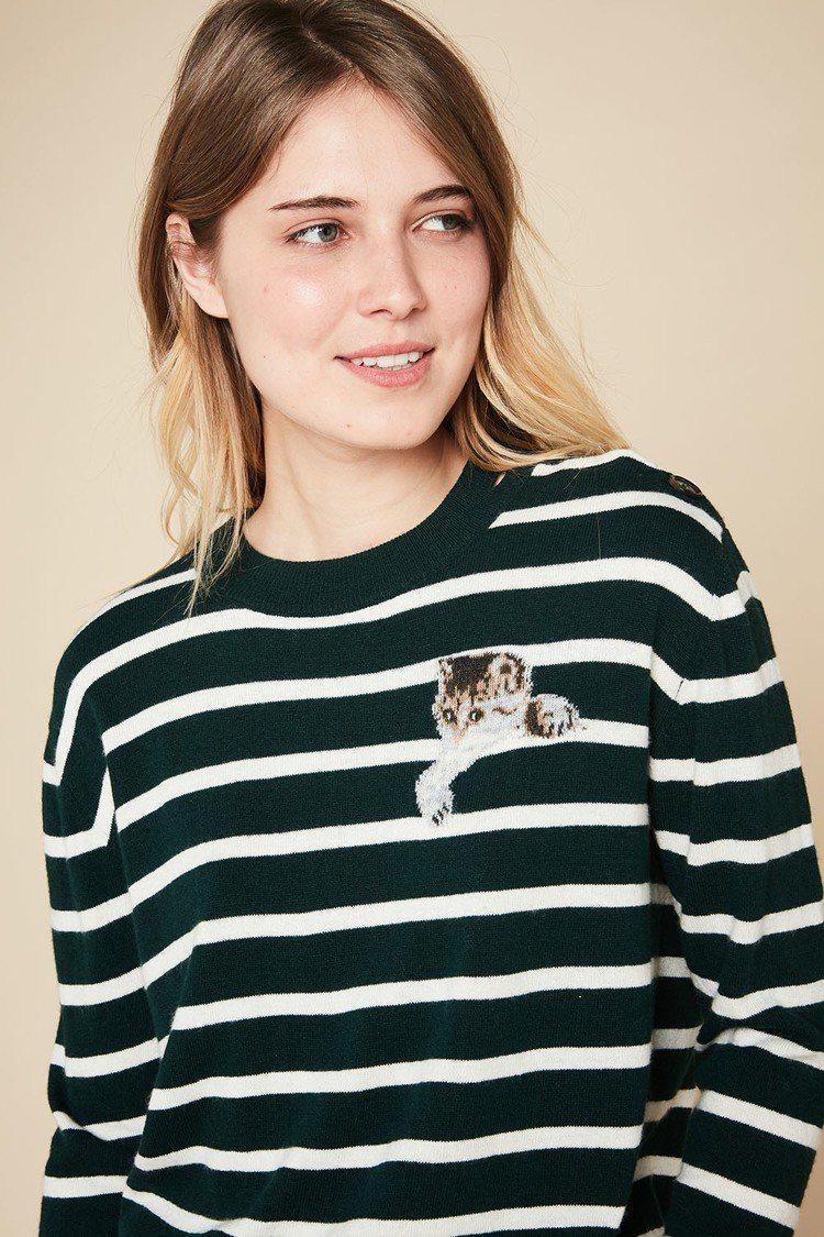 探頭貓咪毛衣,9800元。圖/PAUL&JOE SISTER提供