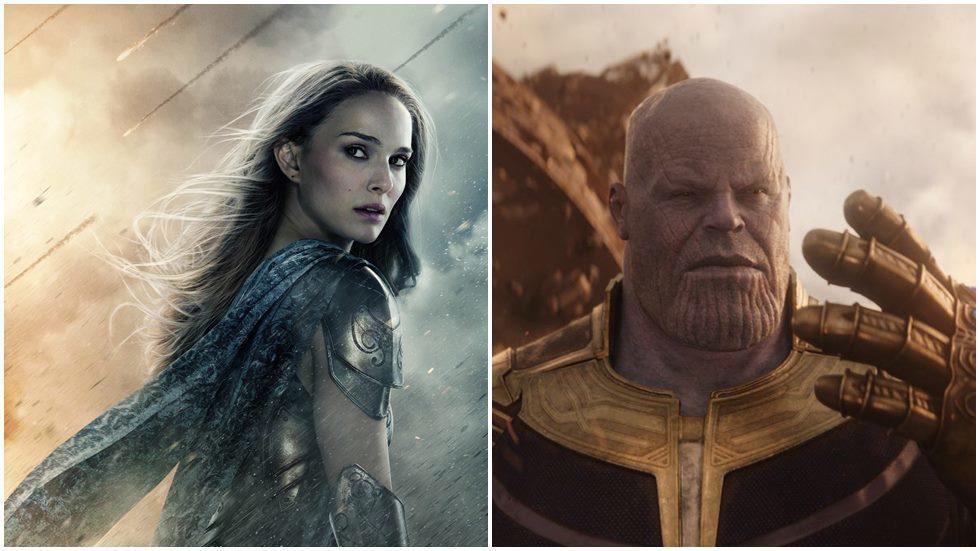 娜塔莉波曼將會在「雷神索爾4」當上女雷神,右為「復仇者聯盟」系列反派薩諾斯。圖/