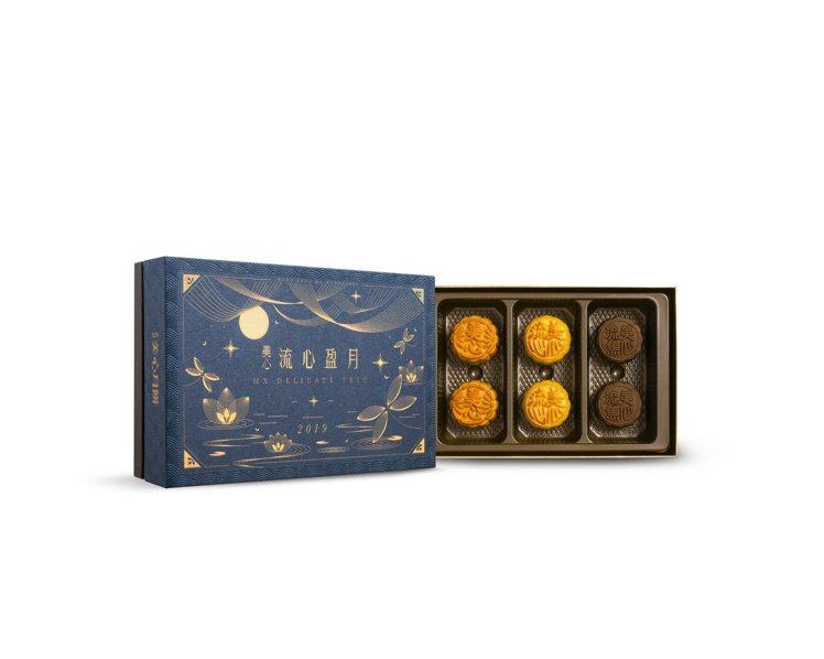 流心盈月禮盒。圖/美心月餅提供