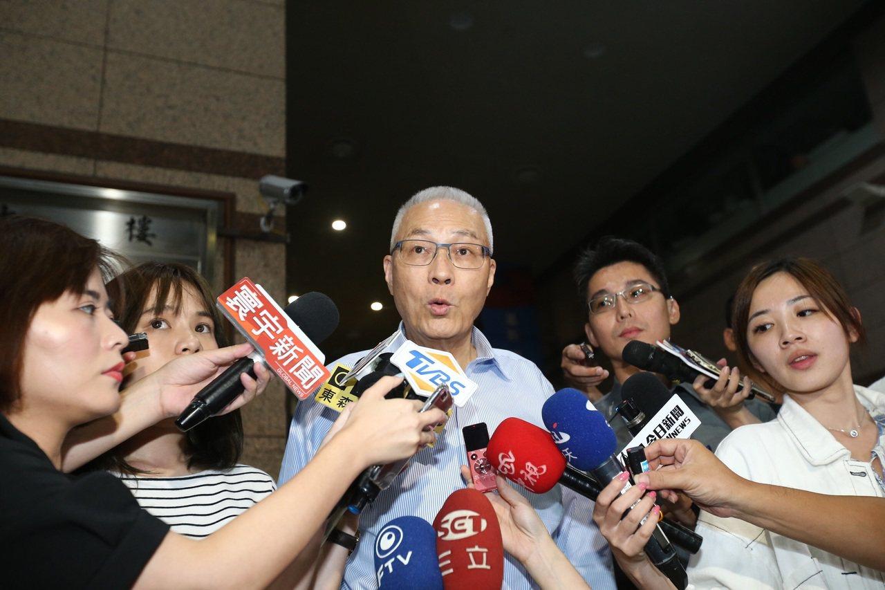 國民黨主席吳敦義。記者許正宏/攝影