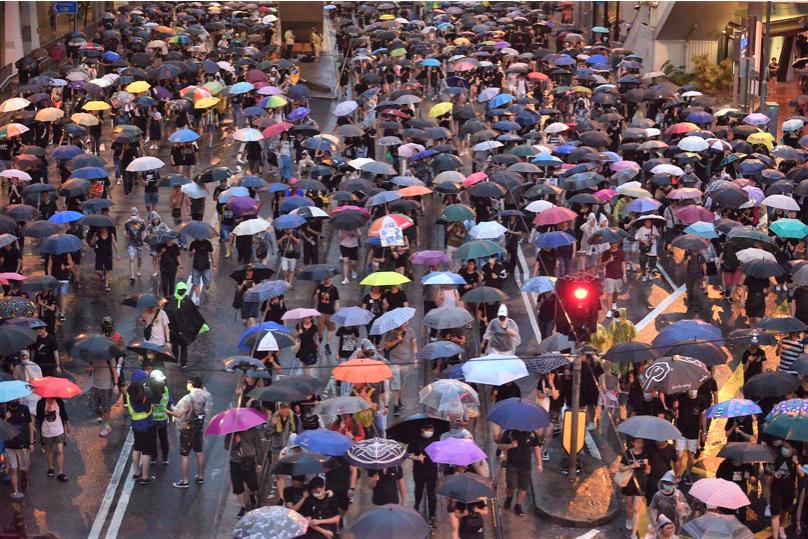 民陣宣布十八日一共有170萬人參與集會,並預告卅一日將再舉行反送中遊行集會。(星...
