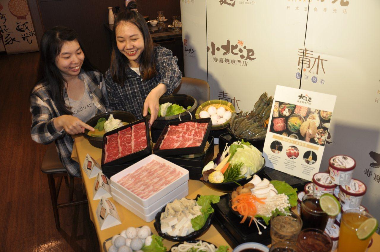 北澤壽喜燒推出夢幻級和牛M9加澳洲和牛肉。圖/大遠百購物中心提供