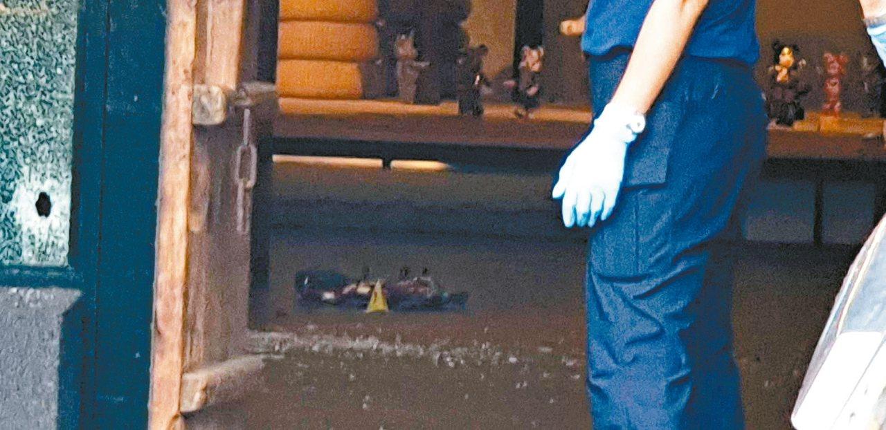 沙鹿槍擊命案現場。 圖/聯合報系資料照片