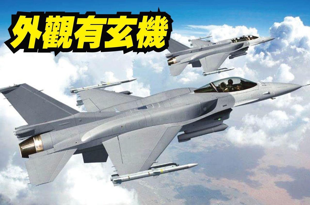 洛克希德馬丁的F-16 Block70(F-16V),請注意單雙座機的機背型狀差...