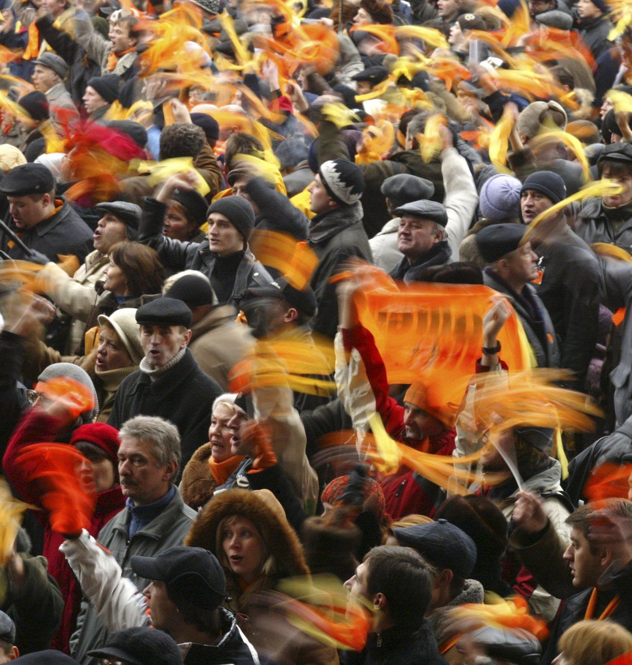 烏克蘭橘色革命成功讓政府重新舉行總統選舉。 (美聯社)