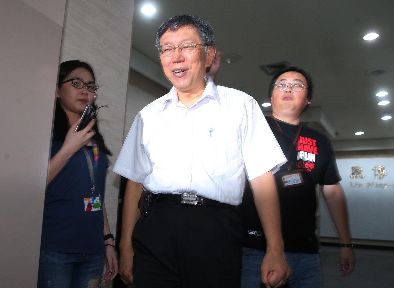 台北市長柯文哲。 聯合報系資料照片/記者徐兆玄攝影