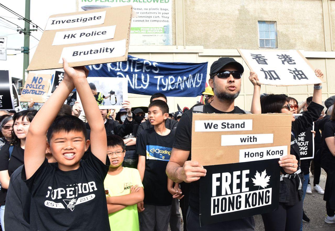 挺港尬親中 示威潮蔓延全球 法新社