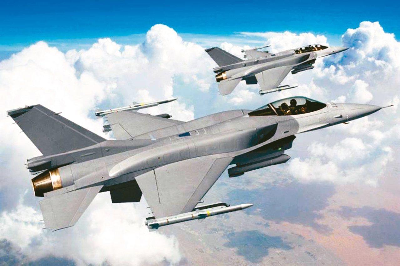 圖為洛克希德馬丁推出的F-16 Block70(F-16V)想像圖。 圖/取自洛...