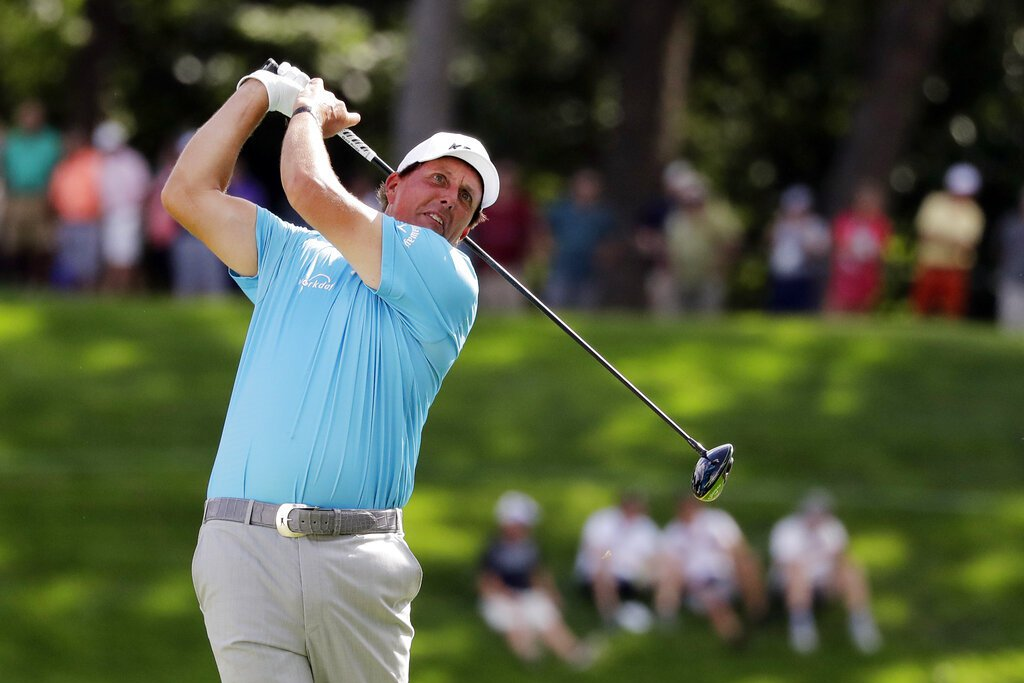 美國高爾夫名將「左手怪傑」米克森。 美聯社