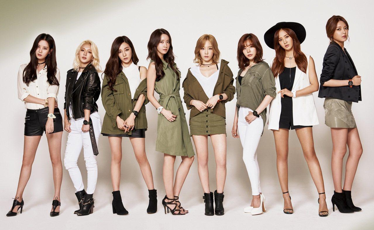 南韓女子天團少女時代。(圖/聯合報系新聞資料庫照片)