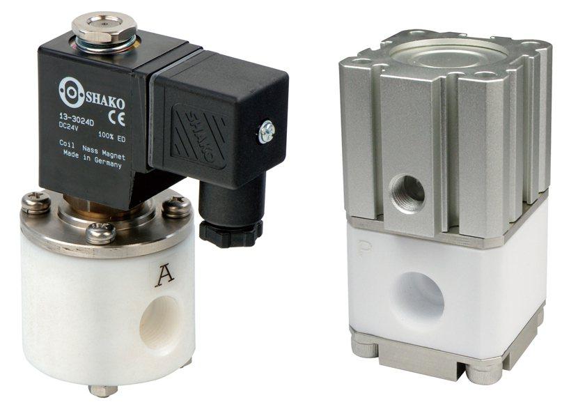 新恭耐酸鹼腐蝕性流體控制閥有電控(PE)、氣控(PEC)兩種版本。 業者/提供