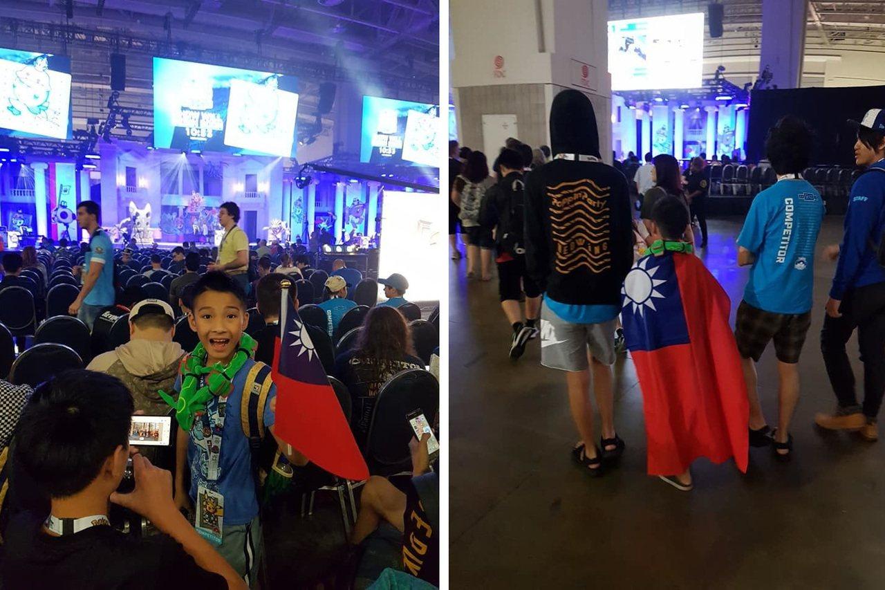 今年10歲的吳比得到寶可夢世界錦標賽冠軍,比賽過程中他隨身攜帶的國旗,甚至披著國...
